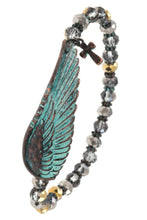 Believe Etched Wing Beaded Bracelet - The Audacious Boutique