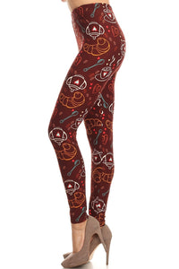 Pumpkin Spice Latte Coffee Leggings - The Audacious Boutique