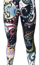 Printed Brushed Leggings - Trail of Paisley