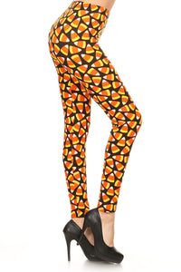 Halloween Candy Corn Leggings - The Audacious Boutique
