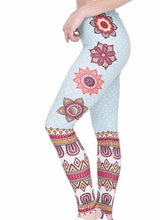 Shape Printed High Waist Women Leggings - The Audacious Boutique