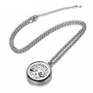 Aromatherapy Essential Oils Diffuser Necklace Stainless Steel  30MM - The Audacious Boutique