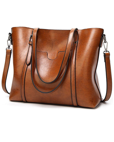 PU Leather Top Handle Satchel Handbags Shoulder Bag Tote Purse - The Audacious Boutique