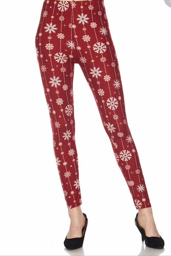 Christmas Snowflakes Buttery Soft Leggings - The Audacious Boutique