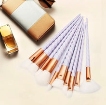 The Rose Gold Unicorn 10pc Makeup Brushes Set - The Audacious Boutique