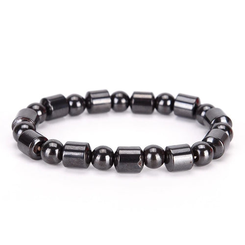 Magnetic Therapy Hematite Unisex Bracelet - The Audacious Boutique