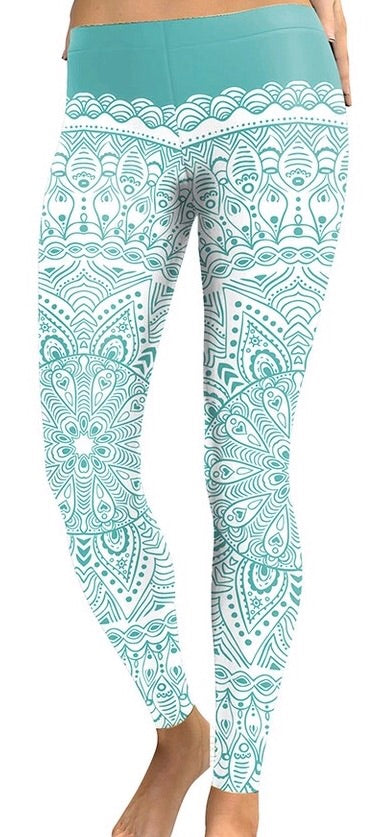 Green Fitness Spandex Women Leggings - The Audacious Boutique