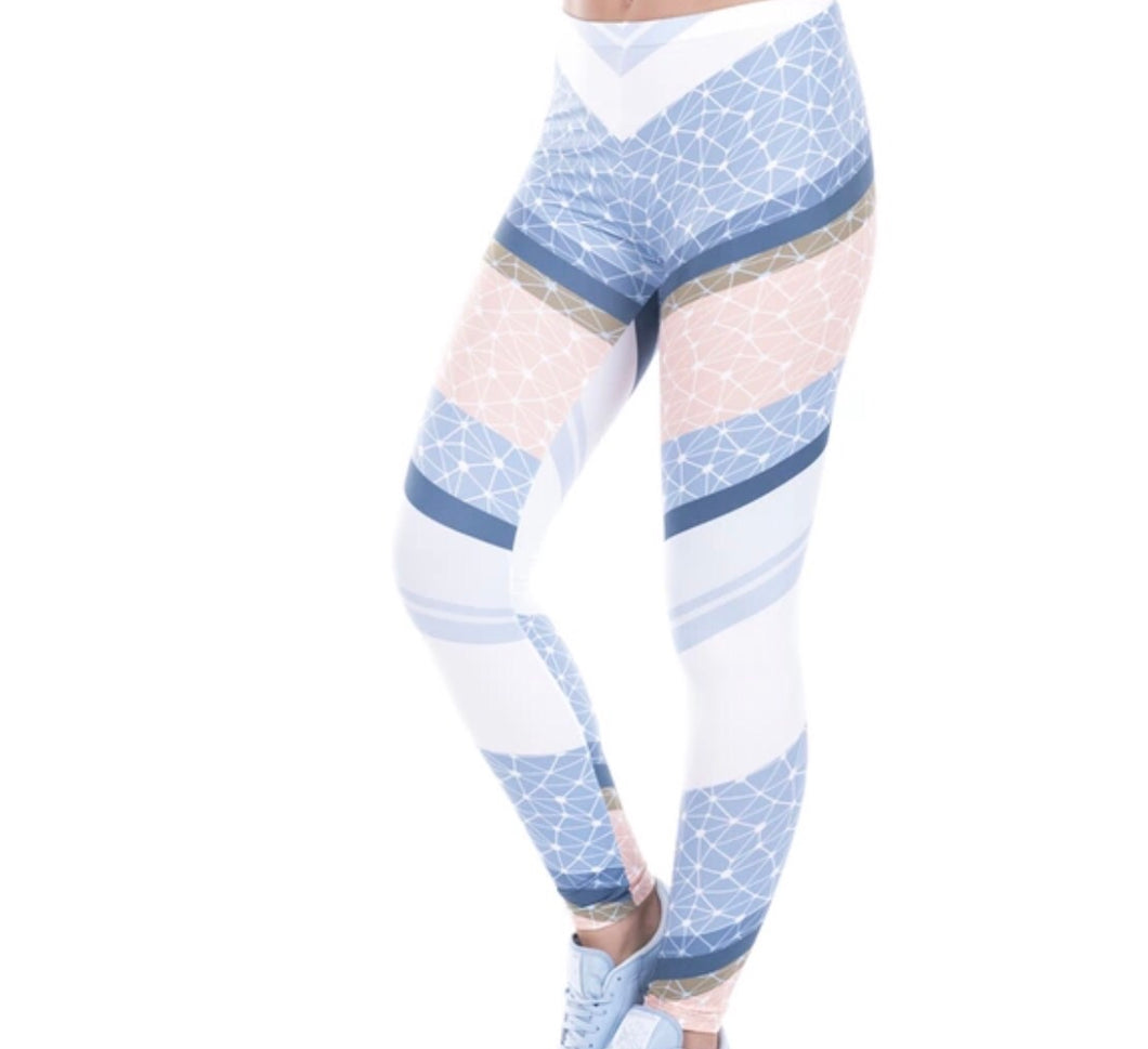 Striped Zig Zag Printed Women Leggings (XS-L) - The Audacious Boutique