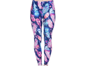 Feathers Printed Women Leggings XS-L - The Audacious Boutique