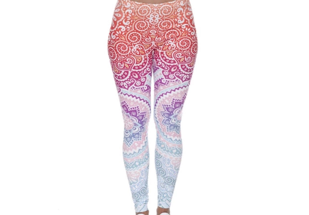 Colorful Rainbow Mandala Printed Women Leggings XS-L - The Audacious Boutique