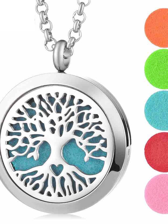 Aromatherapy Essential Oils Diffuser Necklace Stainless Steel  30MM