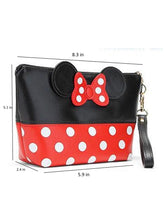 Minnie Mouse Ears style Polka dots Cosmetic Bag Travel Makeup Handbag with Zipper - The Audacious Boutique