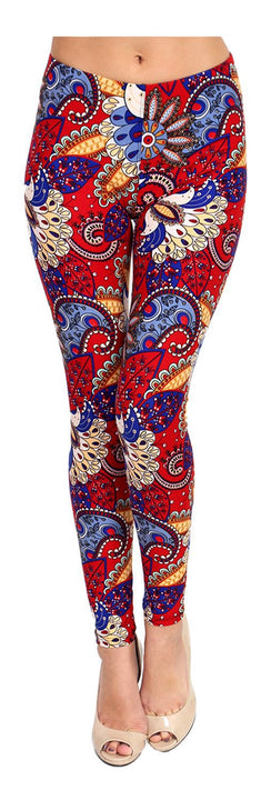 Lovely Paisley Printed Women Leggings