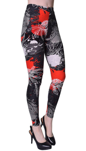 Floral Mist Printed Women Leggings - The Audacious Boutique