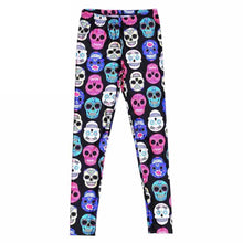 Colorful Skulls Printed Women Leggings - The Audacious Boutique