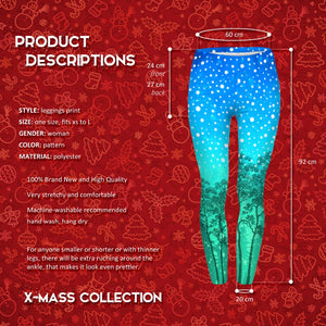 Aurora Winter Printed Women Leggings OS (XS-L) - The Audacious Boutique