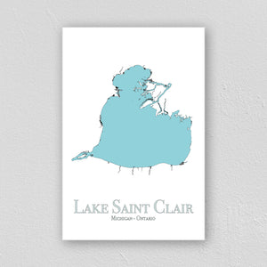 Lake St. Clair Wall Print