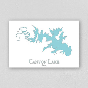 Canyon Lake Wall Print