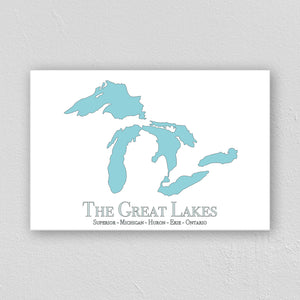 Great Lakes Wall Print