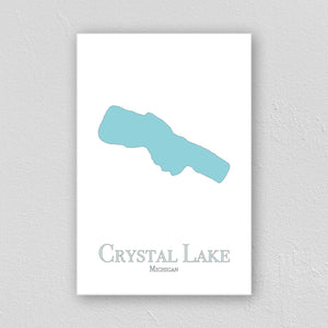 Crystal Lake Wall Print