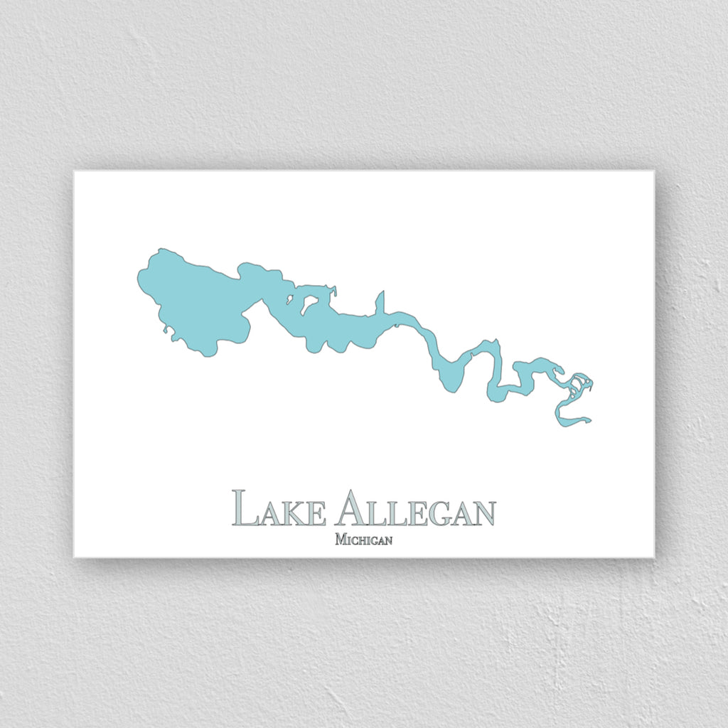 Lake Allegan Wall Print