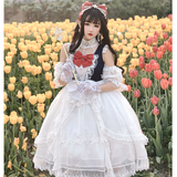 Snow White ~ Sweet Short Sleeve Cold Shoulder Lolita Dress by Diamond Honey ~ Pre-order