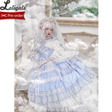 The Angel of Love ~ Sweet Princess Lolita Wedding Dress Ruffled Bridal Gown by Diamond Honey ~ Pre-order