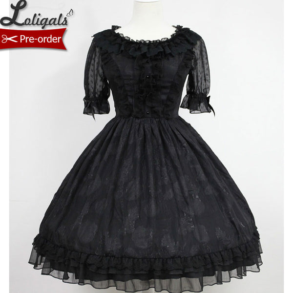 The Secret of Summer ~ Sweet Short Sleeve Lolita OP Dress by Soufflesong