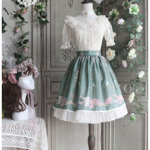 The Poem of Roses ~ Classical Short Printed Lolita Skirt by Miss Point ~ Pre-order
