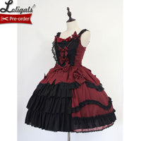 Bell~Classic Lolita JSK Dress with Layered Ruffles by Soufflesong