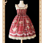 Squirrels Love Berries ~ Sweet Printed Lolita JSK Dress by Infanta ~ Pre-order