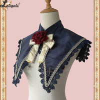 Holly School ~ Cross Embroidered Detachable Pointed Collar w. Brooch by Infanta