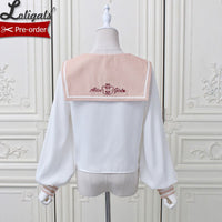 Days in London ~ Sailor Collar Long Sleeve Lolita Blouse by Alice Girl ~ Pre-order