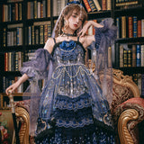 Skull & Butterfly ~ Gorgeous Lolita Dress Gothic Sleeveless Royal Princess Party Dress by YLF