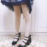 Patterned Lolita Summer Tights Women's Seamless Pantyhose by Ruby Rabbit
