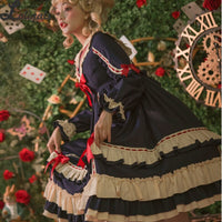Miss Betty ~ Vintage High Waisted Lolita Dress Sailor Collar Party Dress