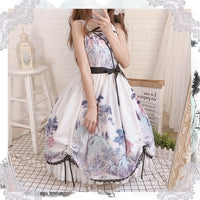 Ink Drawings ~ Sweet Printed Lolita JSK Dress with Shawl by OCELOT