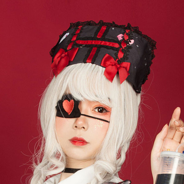 Bunny in Hospital ~ Gothic Lolita Headpiece Nurse Cap for Halloween  by Infanta