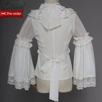 Fish in Dream ~ Sweet Long Bell Sleeve Women's White Blouse Lolita Shirt by Magic Tea Party ~ Pre-order