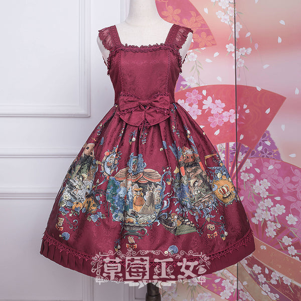 Chipol's Fairytale Land ~ Sweet Printed Lolita JSK Dress by Strawberry Witch