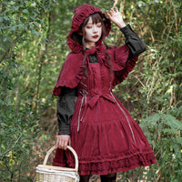 2019 Sweet Corduroy Lolita Dress Thick High Waist Sleeveless Dress