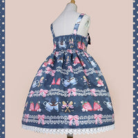 Strawberry & Coffee ~ Sweet Casual Lolita JSK Dress Sleeveless Summer Dress by Infanta