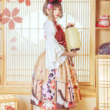 The Love of Crane ~ Vintage Printed Lolita Dress by Magic Tea Party ~ Pre-order