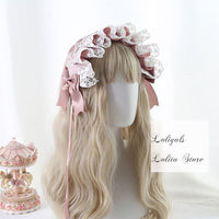 Angel's Street ~ Sweet Lolita Hairband Ruffled Headpiece with Bow