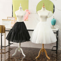 Casual Tea Length Lolita Petticoat Tulle Hoopless Cosplay Underskirt