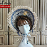 Blooming Camillias ~ Sweet Lolita Bonnet Hat by Alice Girl ~ Pre-order