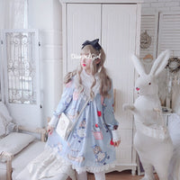 Lovely Doll ~ Sweet Printed Lolita Dress Casual Chiffon Dress by Diamond Honey