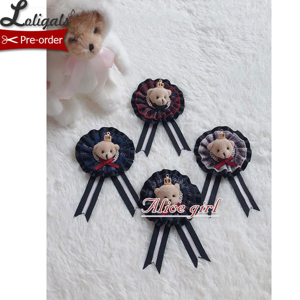 Lovely Teddy ~ Sweet Lolita Badge Headpiece by Alice Girl ~ Pre-order