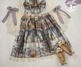 Dusk of the Gods ~ Vintage Printed Lolita JSK Dress by Miss Point ~ Custom Tailored