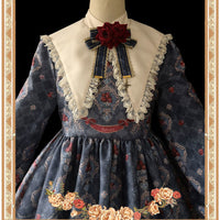 Poisoned Apple ~ Vintage Long Sleeve Printed Lolita Dress by Infanta